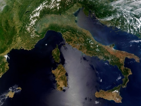 Italy satellite image 2