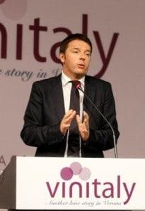 Prime Minister Matteo Renzi at Vinitaly
