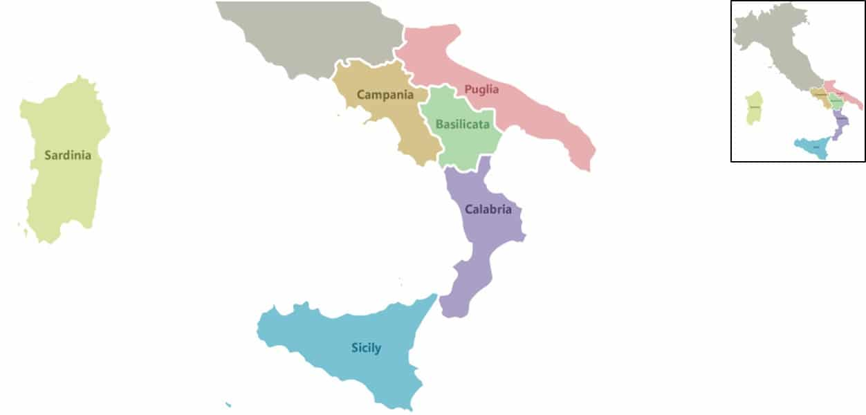 Regions of Southern Italy Italian Wine Central